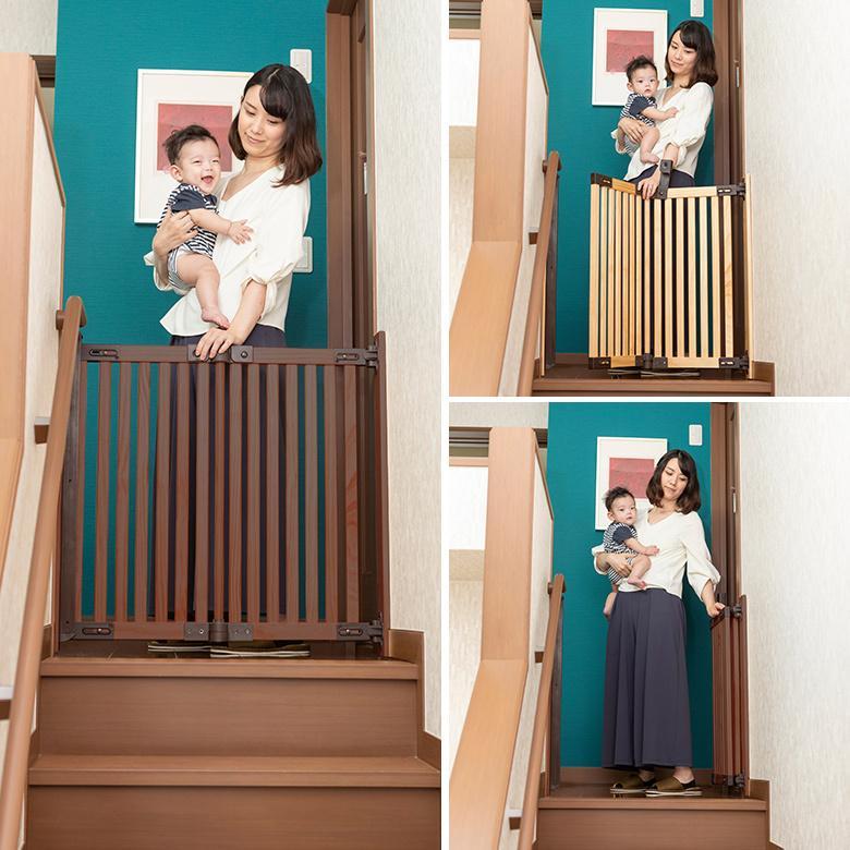 ベビーゲート 木製バリアフリーゲート Oridoor(オリドー) 日本育児|ebaby-select|03