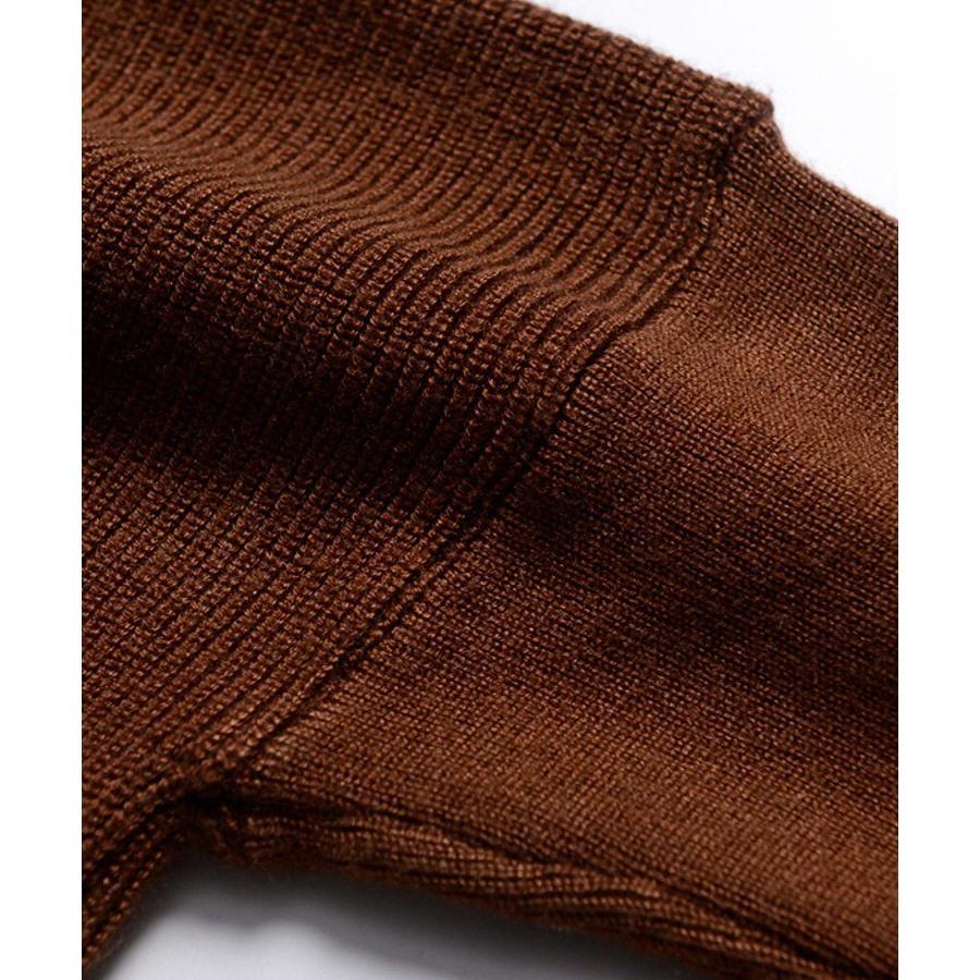 ニット レディース セーター 長袖 トップス Vネック ペプラム 厚手 もっちり プルオーバー 秋冬 30代 40代|ebella|19