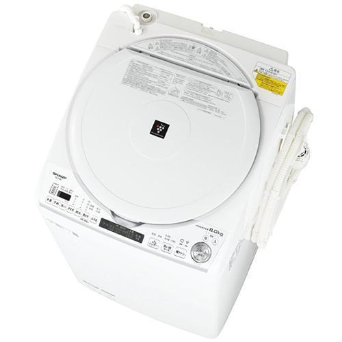 標準設置料金込 シャープ ES-TX8E-W 日本全国 送料無料 発売モデル ホワイト系 洗濯8kg 上開き 乾燥4.5kg タテ型洗濯乾燥機