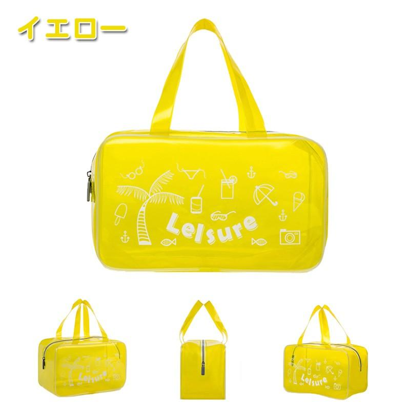 【RAKU】 EVA ビーチバッグ プールバッグ  防水バッグ 大容量 軽量 ジム 温泉 水泳 手提げ型  透明 折り畳み可能 着替え収納 夏祭り ebisu-japan 09
