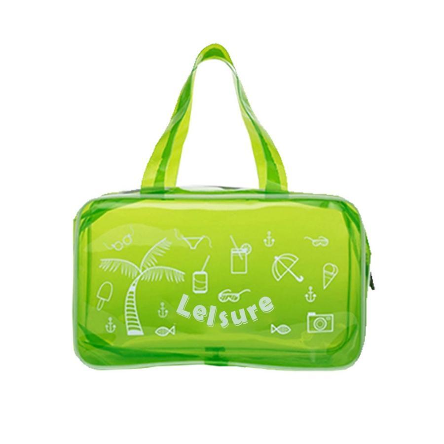 【RAKU】 EVA ビーチバッグ プールバッグ  防水バッグ 大容量 軽量 ジム 温泉 水泳 手提げ型  透明 折り畳み可能 着替え収納 夏祭り ebisu-japan 13