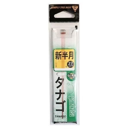 がまかつ 糸付 タナゴ鈎 茶 新半月 0.3 【仕掛け】