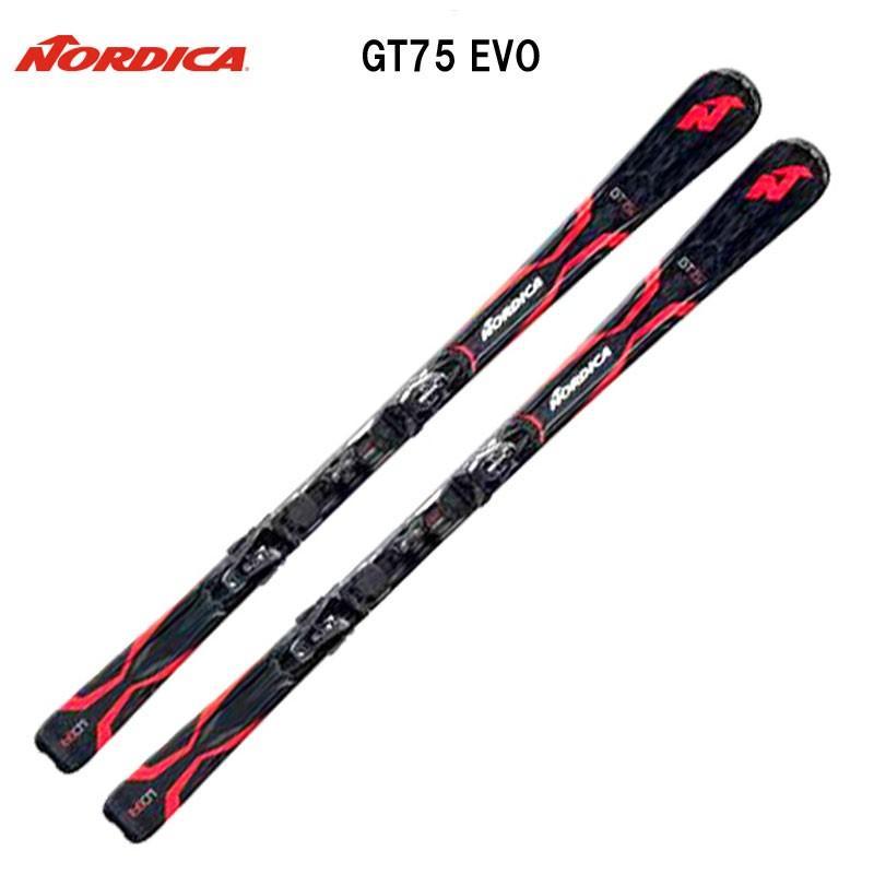 【送料無料】【取付無料】ノルディカ(NORDICA)  スキー/ビンディング 2点セット GT75 EVO+N ADV P R EVO