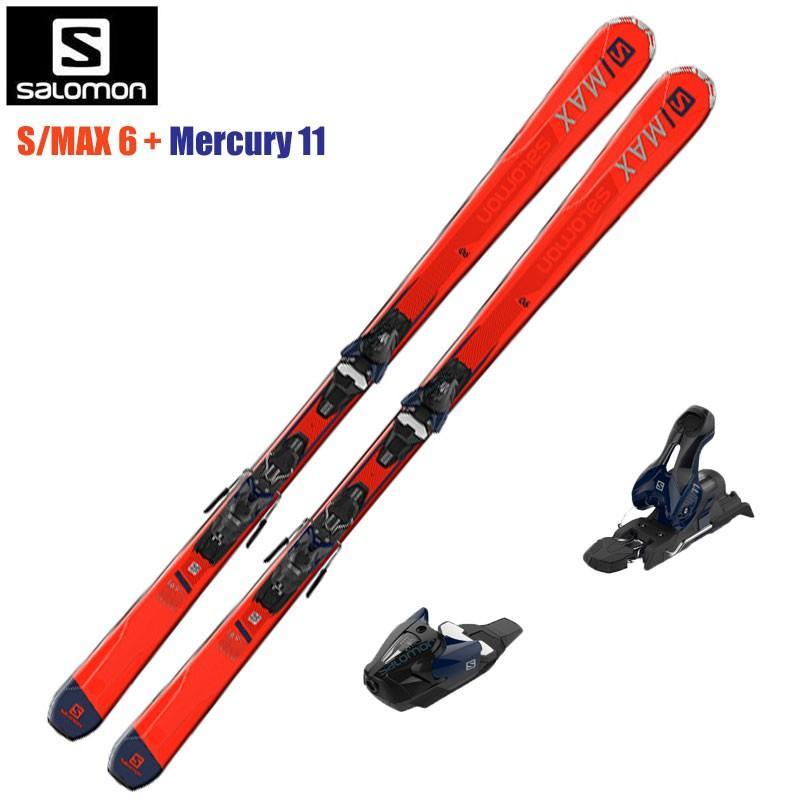 【送料無料】【取付無料】【SALE!】サロモン(SALOMON)  スキー/ビンディング 2点セット S/MAX 6 +Mercury 11L405420002018-2019 MODEL