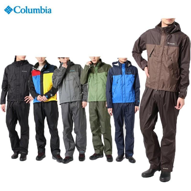 Columbia コロンビア シンプソンサンクチュアリレインスーツメンズ PM0124レインアウトドア キャンプ雨具 上下セット防水 オムニテック2018秋冬継続モデル
