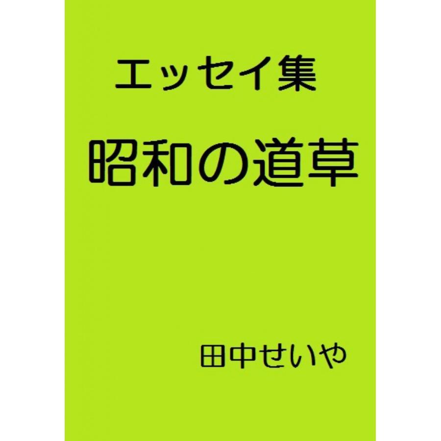 昭和の道草: エッセイ 電子書籍版 / 著:田中せいや ebookjapan