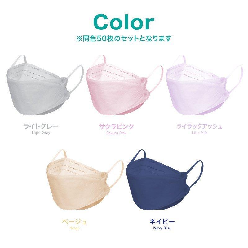 韓国マスク kf94 大きめ 小さめ 立体  効果 使い捨て 血色 がよく見える カラーマスク 50枚 おしゃれ  マスク 不織布 柄|ec-consulting|14