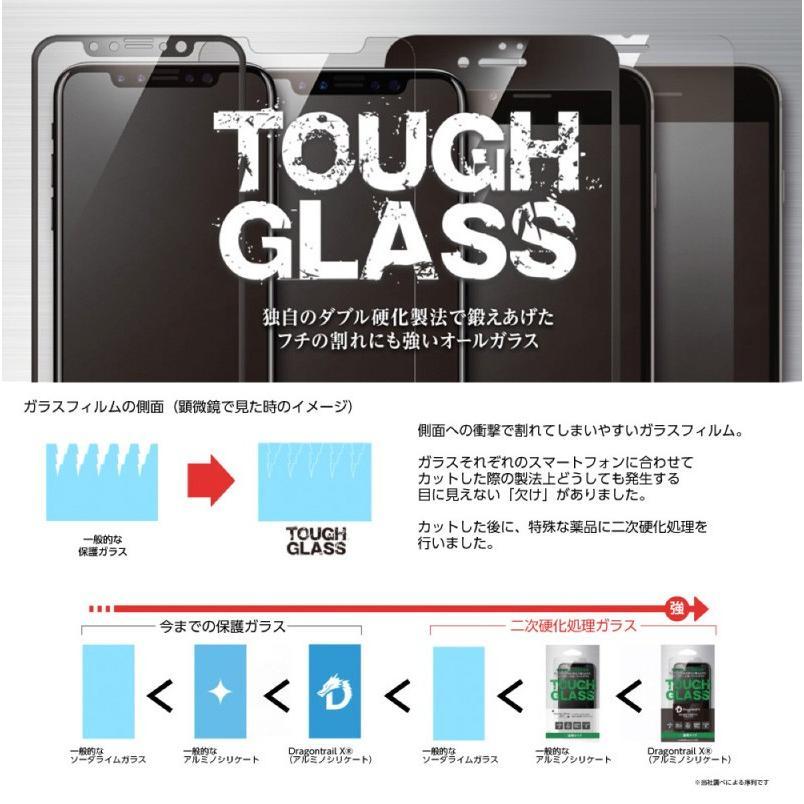 Deff ディーフ iPhone 11 Pro Max / XS Max ガラスフィルム TOUGH GLASS Dragontrail X 極薄 0.25mm 光沢 フチあり ブラック DG-IP18LG2DFBK ネコポス送料無料 ec-kitcut 05