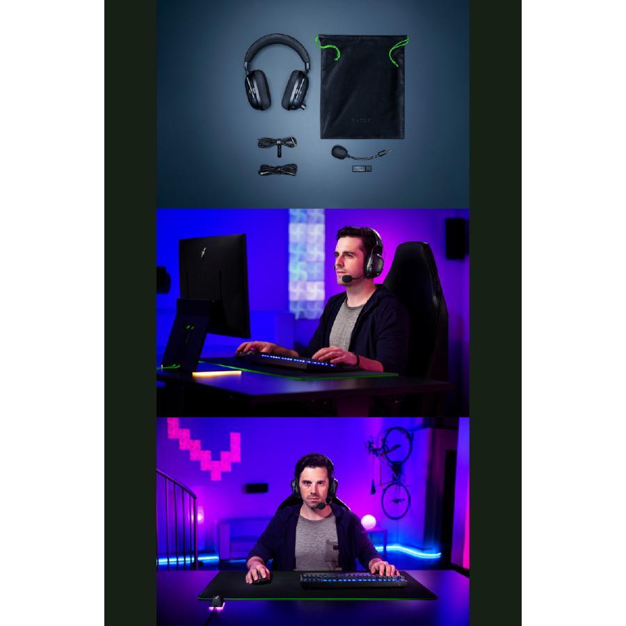 Razer レーザー BlackShark V2 Pro 有線 / 2.4GHz ワイヤレス 両対応 eスポーツ向け ゲーミングヘッドセット RZ04-03220100-R3M1 ネコポス不可|ec-kitcut|06