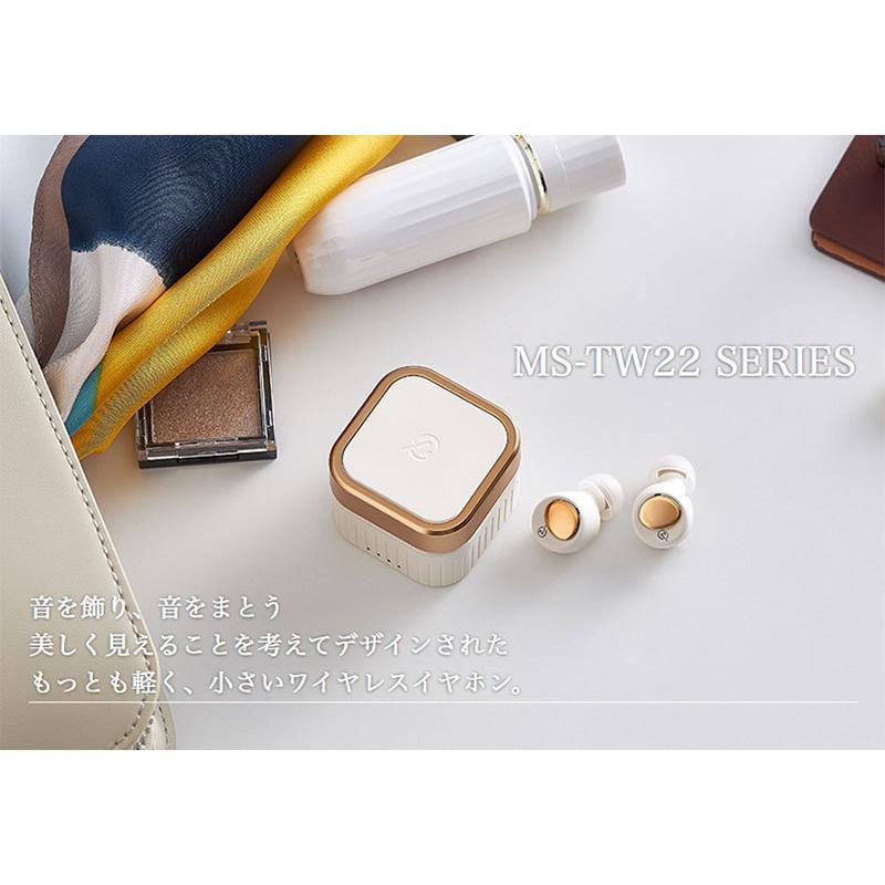 完全ワイヤレス イヤホン 独立 M-SOUNDS MS-TW22 Bluetooth 5.1対応 IP54 防水 完全ワイヤレスイヤホン  エムサウンド ネコポス不可|ec-kitcut|03