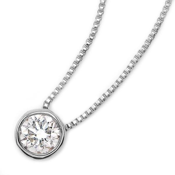 最上の品質な ダイヤモンド 0.1ct ネックレス 一粒 0.1ct K18 ホワイトゴールド 一粒 ペンダント Nudie Heart(ヌーディーハート) ダイヤモンド 人気の覆輪留 ペンダント, Shine Mart(シャインマート):261e96ef --- airmodconsu.dominiotemporario.com