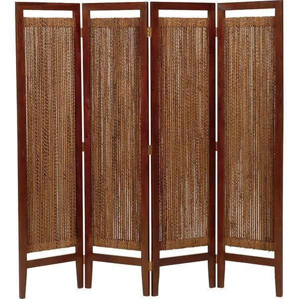 パーテーション(スクリーン) グランツシリーズ 4連 木製 木製 高さ150cm アジアン風 ナチュラル〔代引不可〕