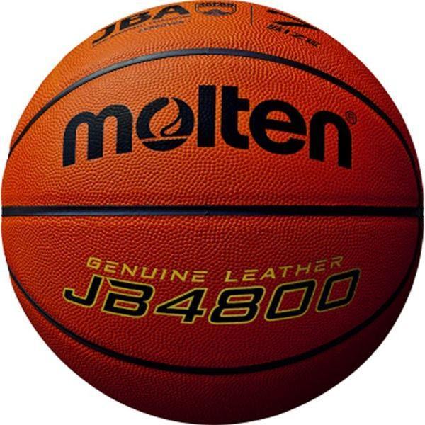 〔モルテン Molten〕 バスケットボール 〔7号球〕 天然皮革 JB4800 B7C4800 〔運動 スポーツ用品〕