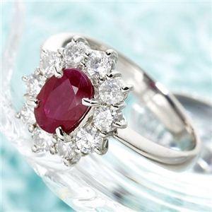 【即日発送】 プラチナ スリランカルビー1ctデカメレダイヤリング 指輪 15号, ピップチョウ 32fe1d58