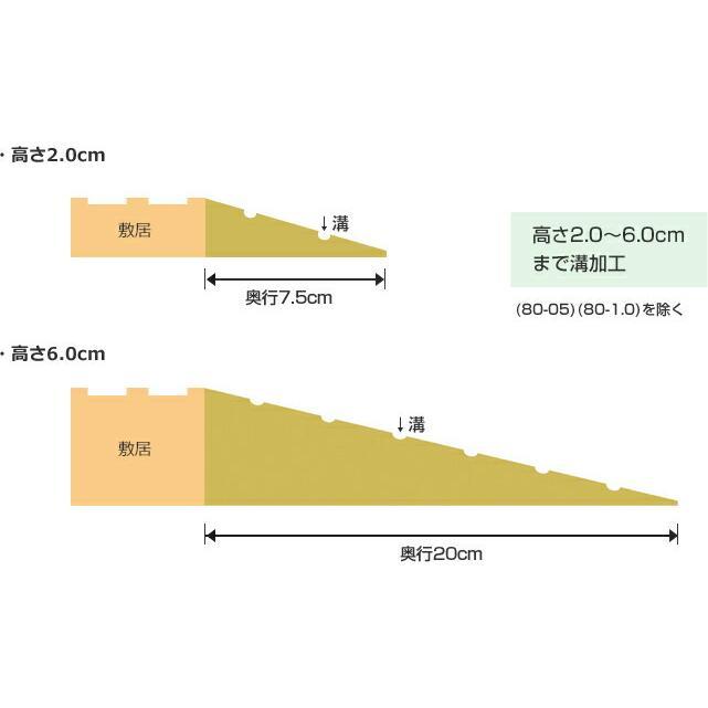 シンエイテクノ タッチスロープ TS-100-05 100cm(幅)×6cm(奥行) ×0.5cm(高さ) 100-05|ecare|03