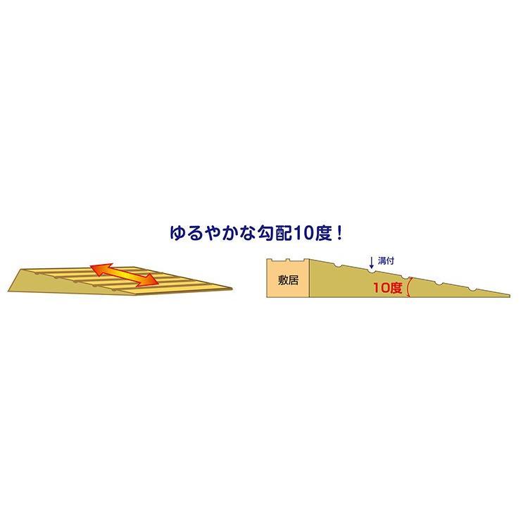 シンエイテクノ タッチスロープ10゜ TS10-80-30  80cm(幅)×16.0cm(奥行) ×3.0cm(高さ) 80-30|ecare|04
