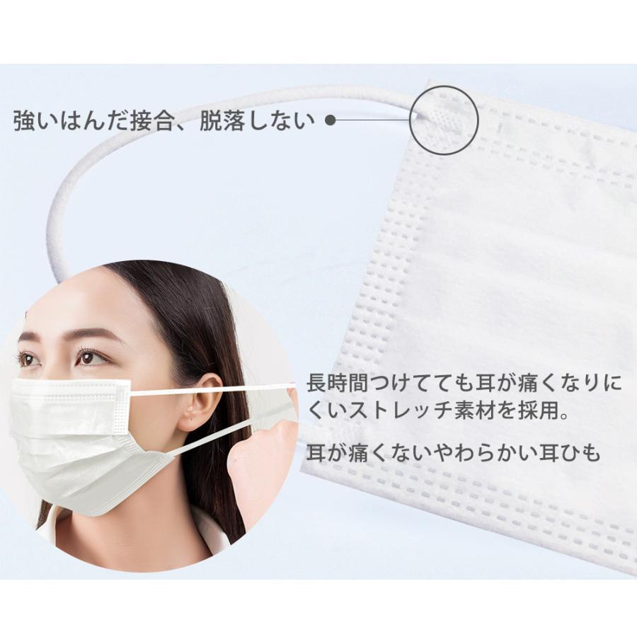 マスク 個包装マスク 100枚箱入 使い捨てマスク 白 大人用 普通サイズ 三層構造 不織布マスク 国内発送 飛沫防止 花粉対策 男女兼用 15時迄翌日出荷|ecart|06