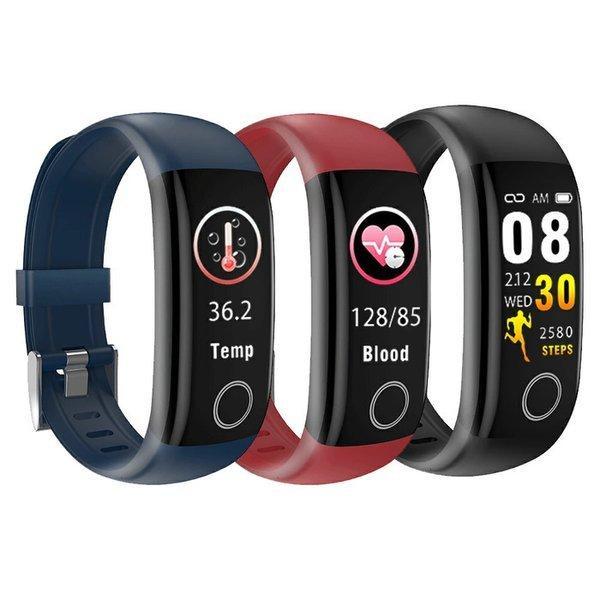 2020年最新 スマートウォッチ 体温測定 血圧 時計 iPhone Android 着信通知 IP67防水 睡眠検測 歩数計 心拍数 多機能 スマートプレスレット 日本語アプリ|ecart|10