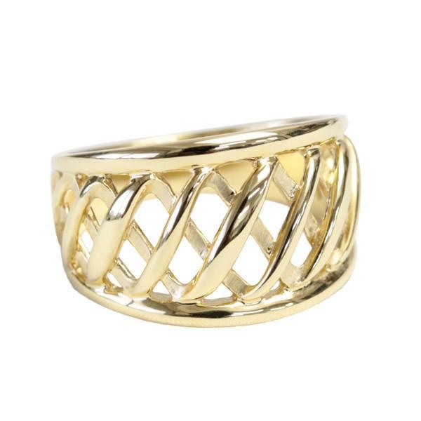 お手頃価格 リング ボリューム レディース 指輪 指輪 K18 文字入れ 透かし ボリューム 文字入れ, ラーメンもりしげ:138940bc --- airmodconsu.dominiotemporario.com