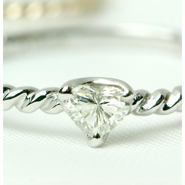 最先端 ハートシェイプ (ハートカット) ダイヤモンドリング 0.12ct, ソウリョウチョウ b8ab5de1