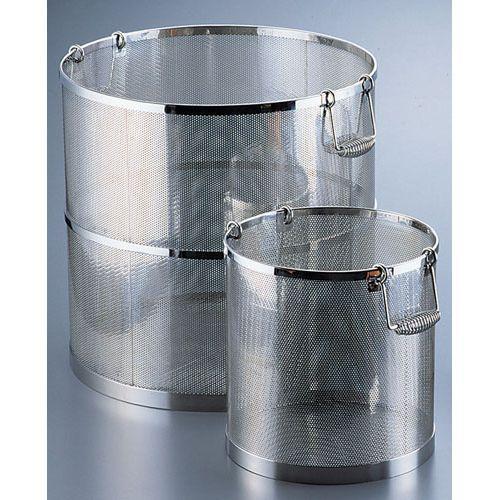 三宝産業 UK 18-8パンチング丸型スープ取りざる 36cm用