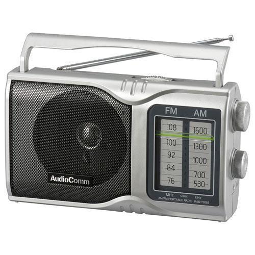 海外並行輸入正規品 オーム電機 RAD-T208S AudioComm 永遠の定番 AM FMポータブルラジオ