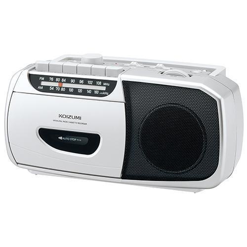 コイズミ SAD-1208 S 美品 シルバー 日本産 ラジカセ ワイドFM対応