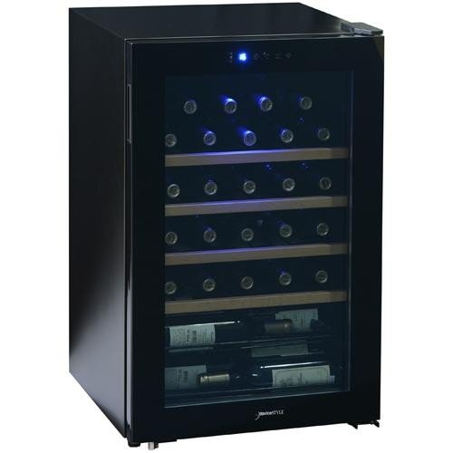 【設置+リサイクル+長期保証】デバイスタイル CD-30W コンプレッサー方式ワインセラー 30本収納
