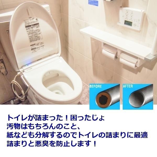 ROEBIC K-97JD 4リットル|トイレ詰まりの決定版 バイオパイプクリーナー トイレのつまり解消 トイレ排水管用洗剤 トイレ 詰まり 解消 悪臭防止|ececo|02