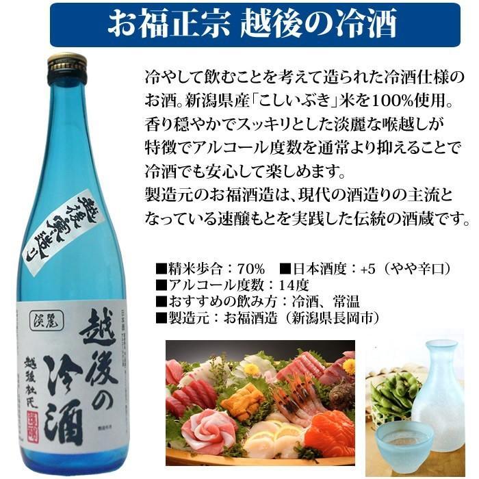 日本酒 飲み比べ 越後の夏 720ml×2本セット 吉乃川越後吟醸 お福正宗 越後の冷酒 echigo 03