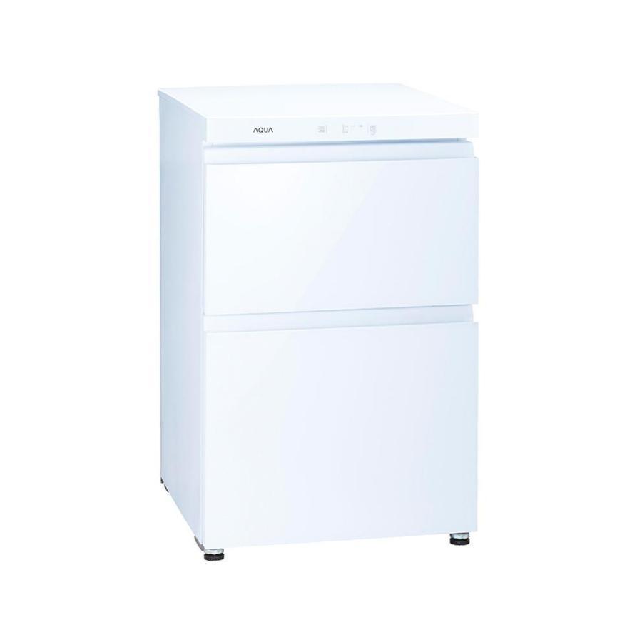 aqua AQF-GD10J-W 冷凍庫 クリスタルホワイト  2ドア  引き出しタイプ  100L (AQF-GD10J W)