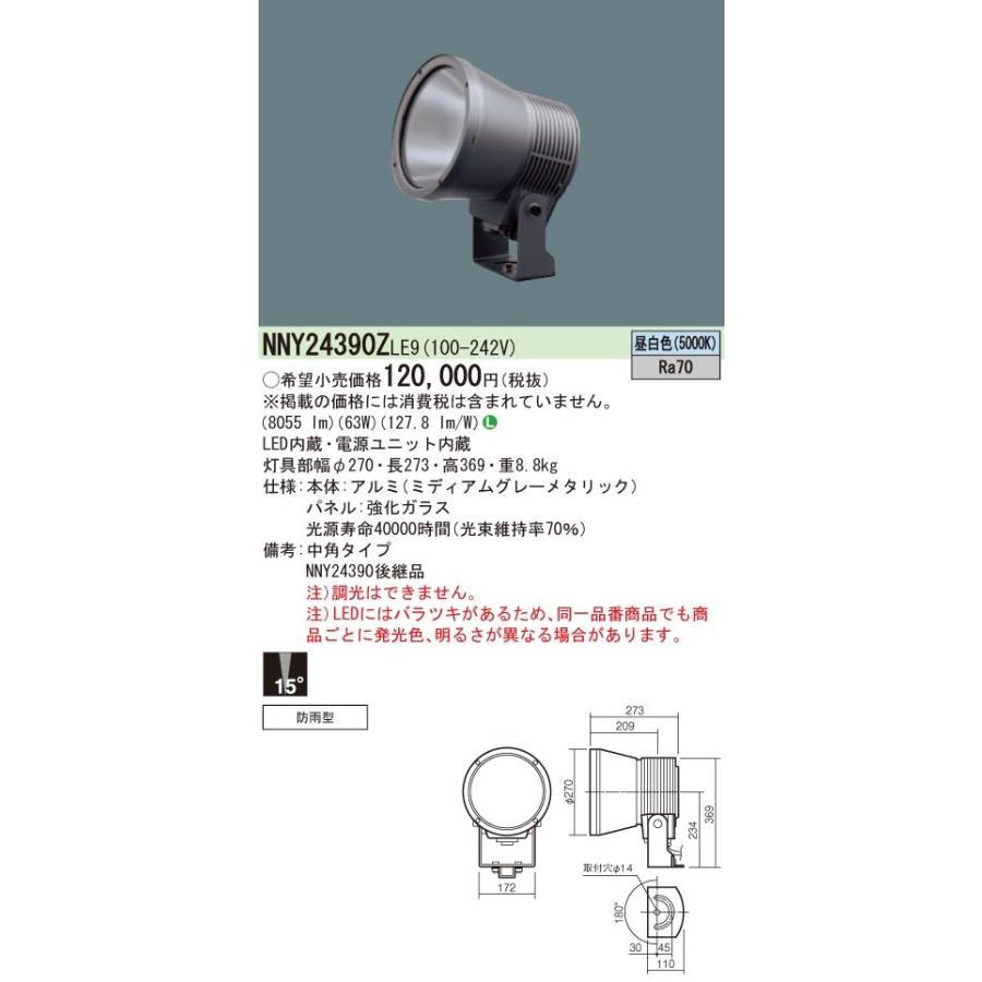 パナソニック 750形LEDスポット3000K中角 NNY24392ZLE9