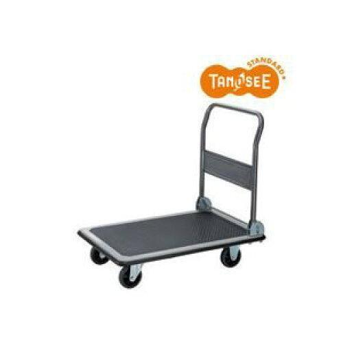 TANOSEE スチール台車(折りたたみ式) 300kg荷重 黒【入数:3】
