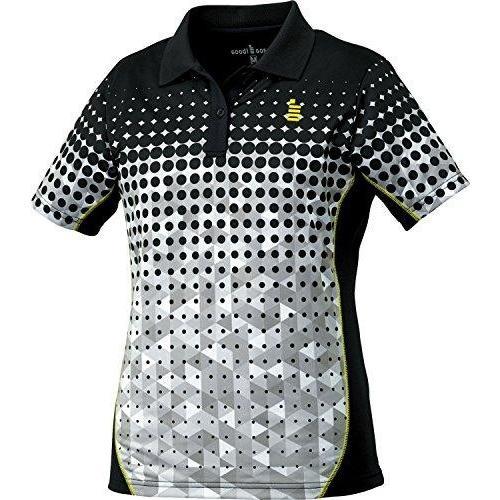 ゴーセン レディースゲームシャツ (T1715) [色 : ブラック] [サイズ : L]