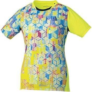 ゴーセン T1813_レディースゲームシャツ (T1813) [色 : ネオンイエロー] [サイズ : S]