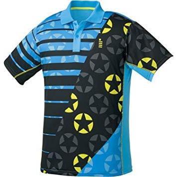 ゴーセン T1812_ホシガラゲームシャツ (T1812) [色 : ターコイズブルー] [サイズ : S]