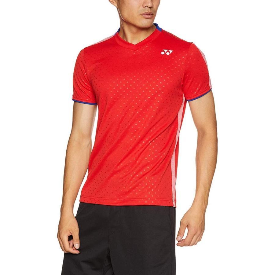 ヨネックス ユニゲームシャツ(フィットスタイル) (10270) [色 : サンセットレッド] [サイズ : M]