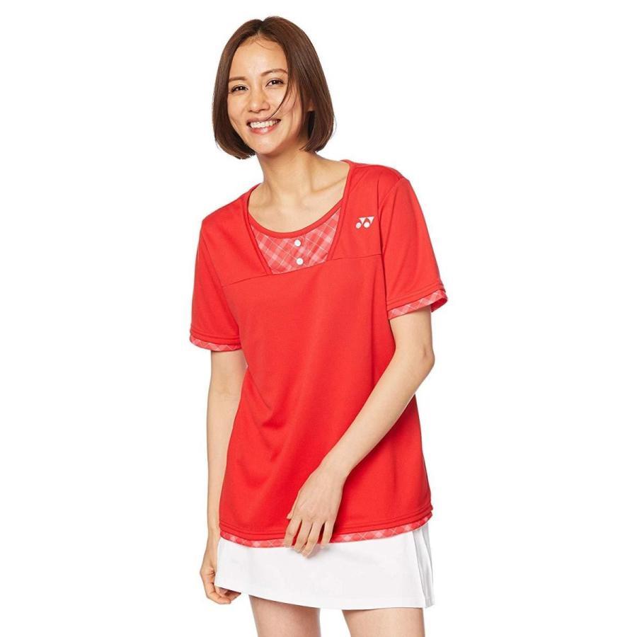 ヨネックス ウィメンズゲームシャツ(レギュラー) (20499) [色 : サンセットレッド] [サイズ : M]