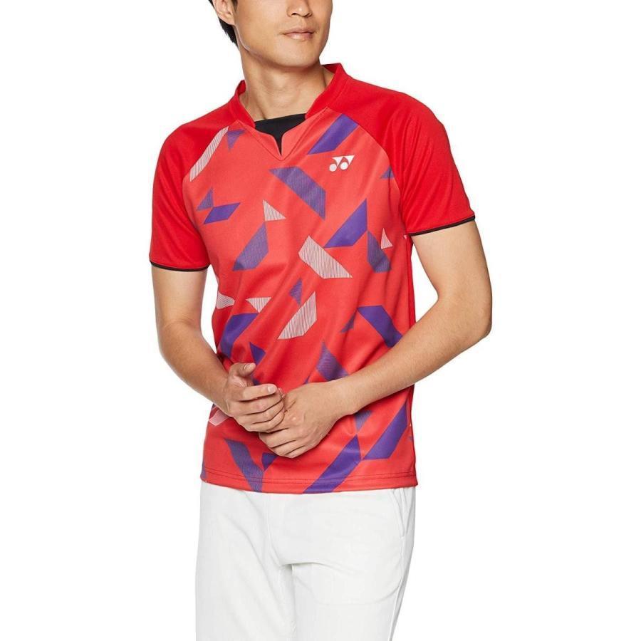 ヨネックス ユニゲームシャツ(フィットスタイル) (10315) [色 : サンセットレッド] [サイズ : L]