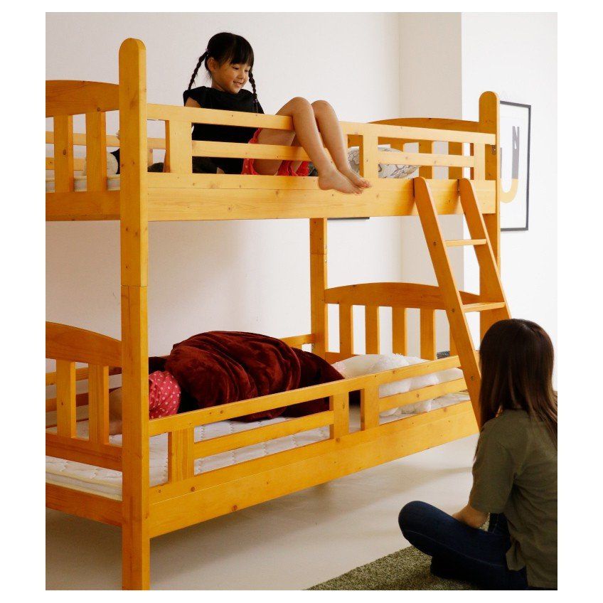 二段ベッド 2段ベッド シングル カントリー調 パイン 無垢 天然木 安い 木製|eckagudepo|10