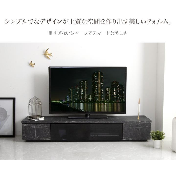 テレビ台 ローボード 180 テレビボード 日本製 大理石調 完成品 大川家具 国産|eckagudepo|05