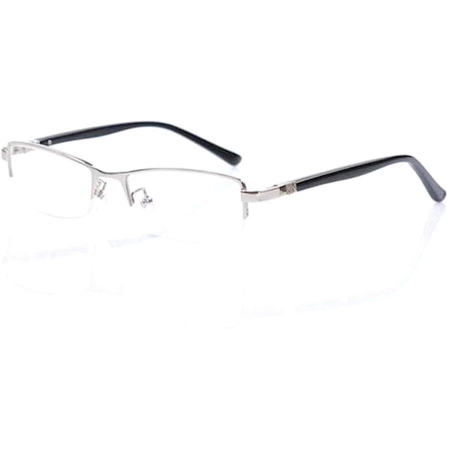 超軽量21g 伊達メガネ PCメガネ ブルーライトカット UVカット メンズ かっこいい おしゃれ ハーフリム メガネケース 眼鏡拭き 付|ecloset-store|20