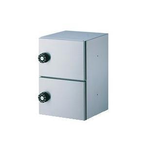 ダイケン パーソナルボックス(2段、奥行240mm) ステンレス製 静音ダイヤル錠 PLB240-2D PLB240-2D 送料無料