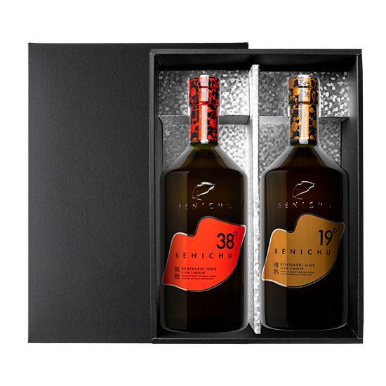 限定梅酒セット BENICHU38°とBENICHU19°の2本セット [750ml] ギフト 特別 贈り物 ecofarmmikata