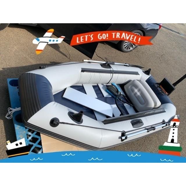 ゴムボート 釣りボート PVC製 モーターマウント付 リペアキット 収納袋付 2人乗り インフレータブル  船外機3馬力まで対応 新品 ecofuture8