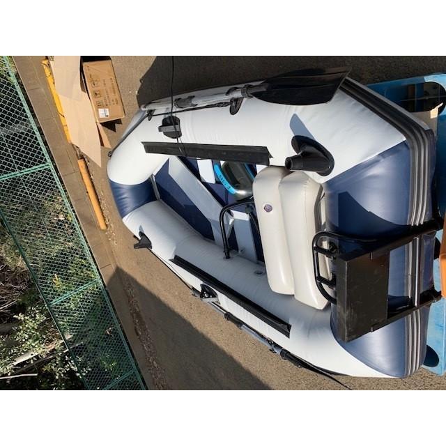 ゴムボート 釣りボート PVC製 モーターマウント付 リペアキット 収納袋付 2人乗り インフレータブル  船外機3馬力まで対応 新品 ecofuture8 04