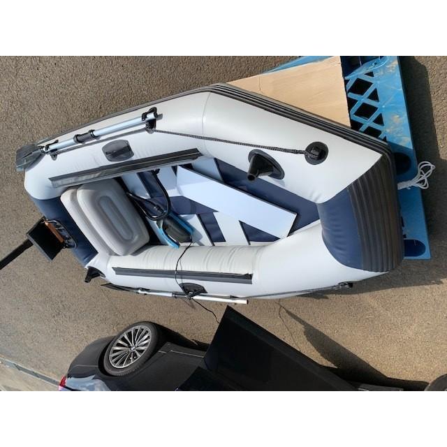ゴムボート 釣りボート PVC製 モーターマウント付 リペアキット 収納袋付 2人乗り インフレータブル  船外機3馬力まで対応 新品 ecofuture8 06