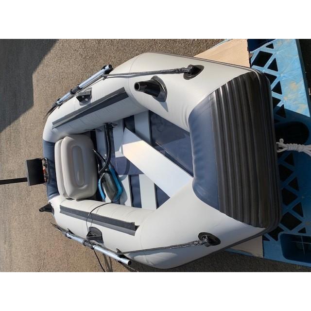 ゴムボート 釣りボート PVC製 モーターマウント付 リペアキット 収納袋付 2人乗り インフレータブル  船外機3馬力まで対応 新品 ecofuture8 07