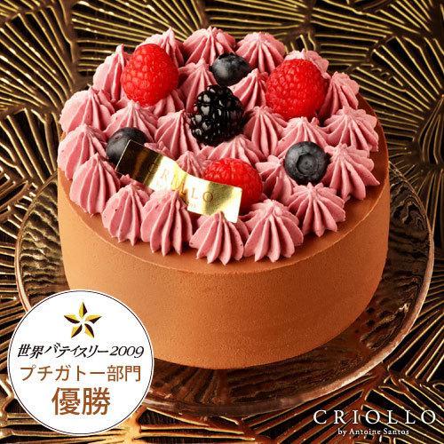 スイーツ ギフト お取り寄せ ニルヴァナ(ブラックベリーとチョコレートケーキ)4号 直径12cm 約2〜4名用 ホールケーキ 2021   冷凍便  ecole-criollo