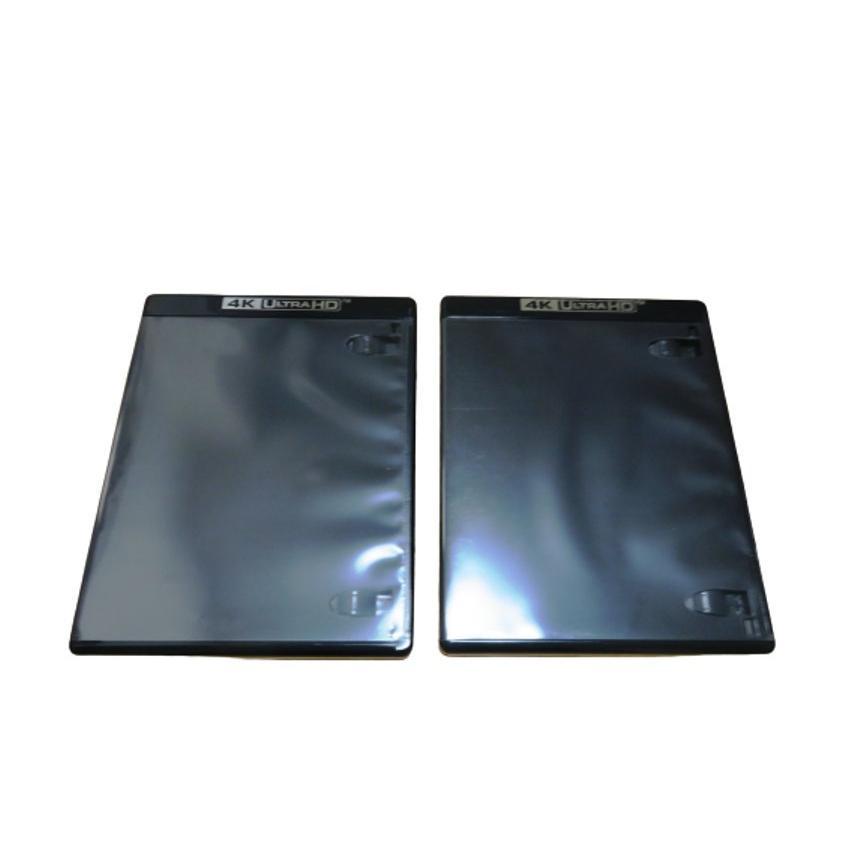 4K ULTRA HD Blu-ray ケース 1枚収納用 2個セット 12.5mm厚 輸入品